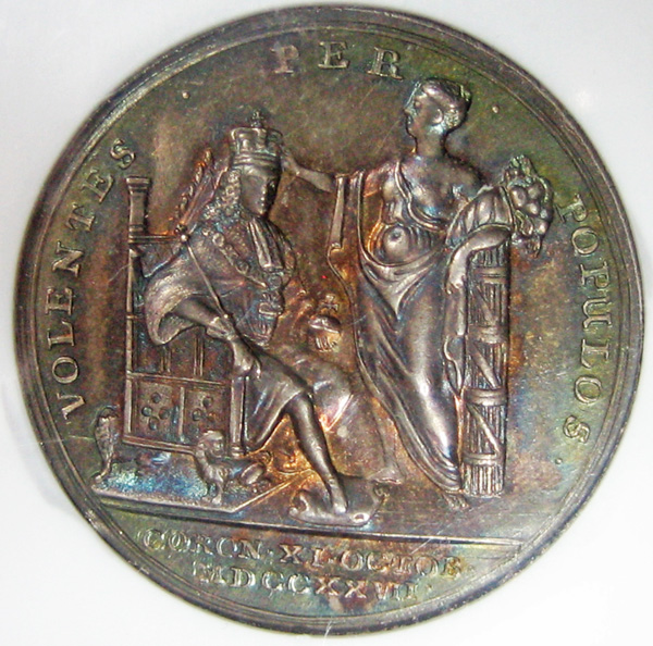 british silver coronation medal