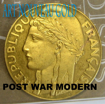 Art Nouveau Post War Gold Coins